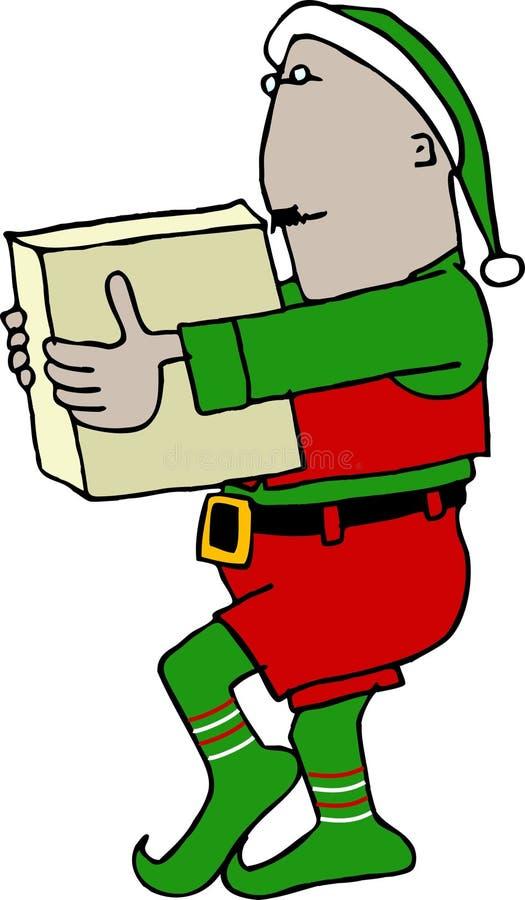 配件箱运载的圣诞节矮子 库存照片