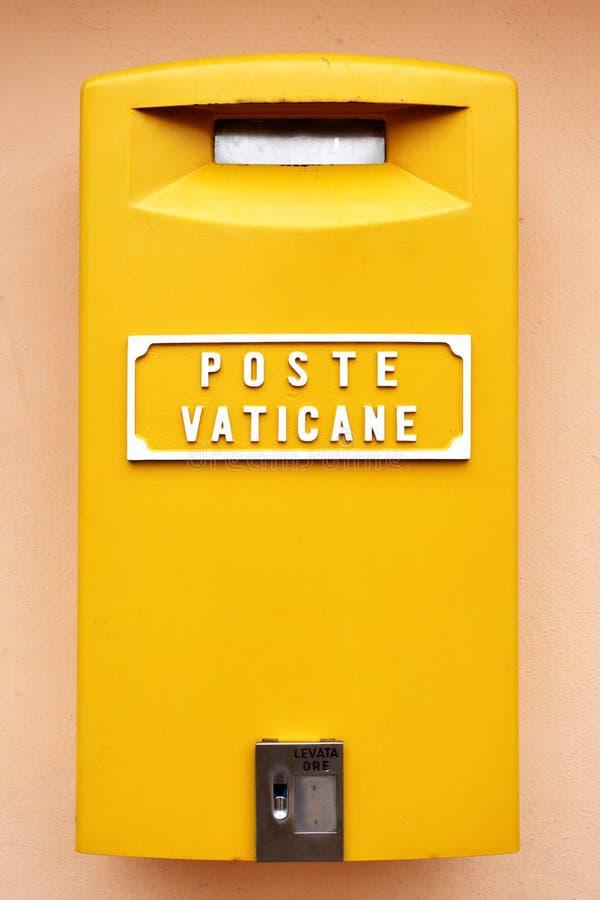 配件箱邮件梵蒂冈 免版税库存图片
