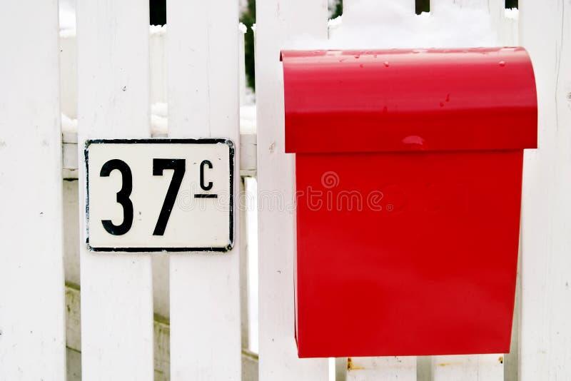 配件箱邮件红色 免版税图库摄影