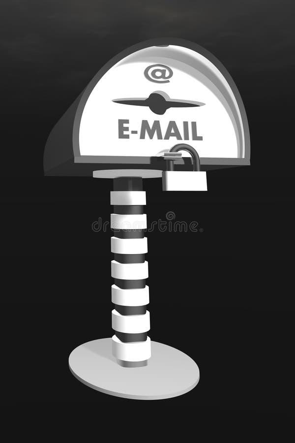 配件箱邮件 库存例证