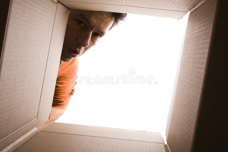 配件箱里面查找 免版税库存照片