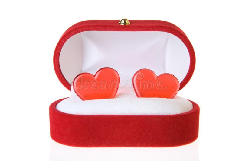 配件箱重点珠宝 免版税库存照片