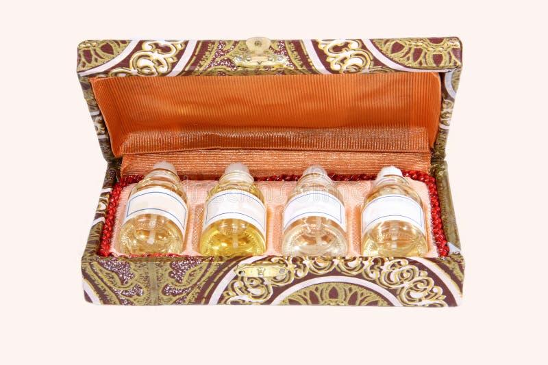 配件箱重要礼品油 免版税图库摄影