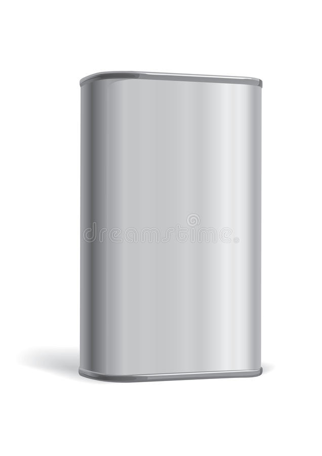 配件箱金属 向量例证