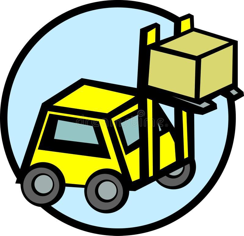 配件箱铲车重量级的起重机 向量例证