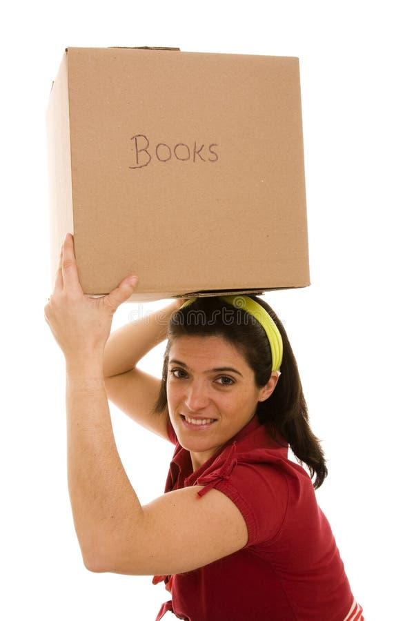 配件箱题头她在妇女 免版税库存图片