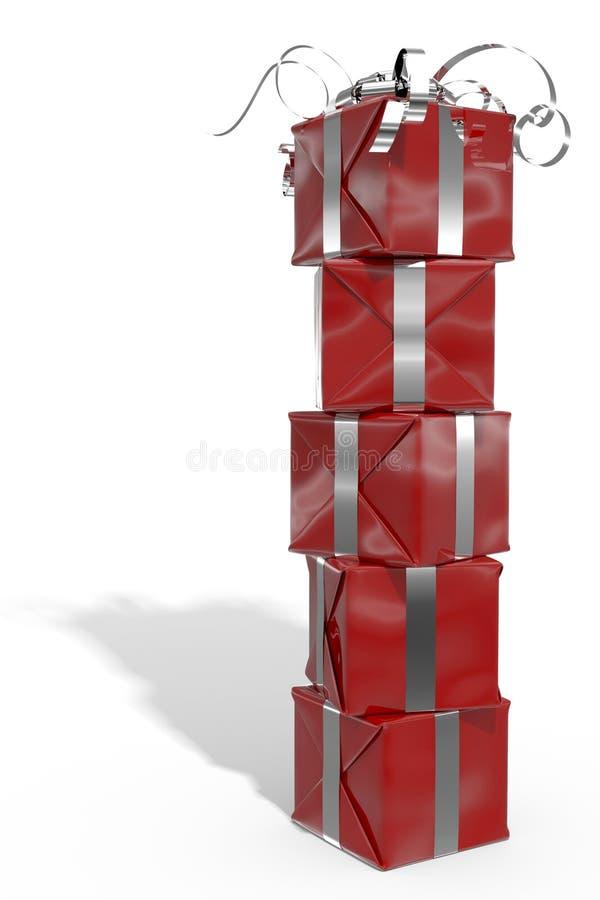 配件箱颜色礼品查出 库存例证