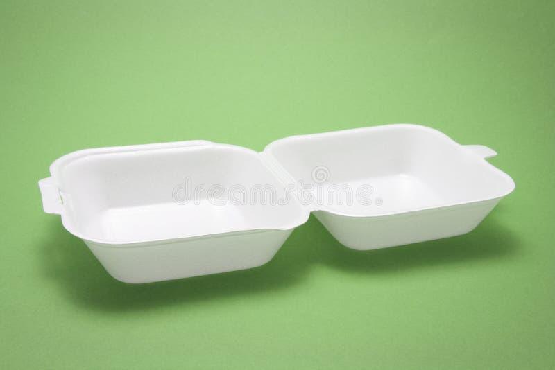 配件箱食物多苯乙烯 免版税库存图片