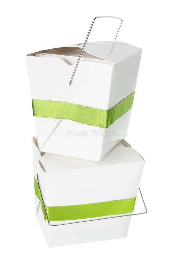 配件箱食物栈饭菜外卖点 库存照片