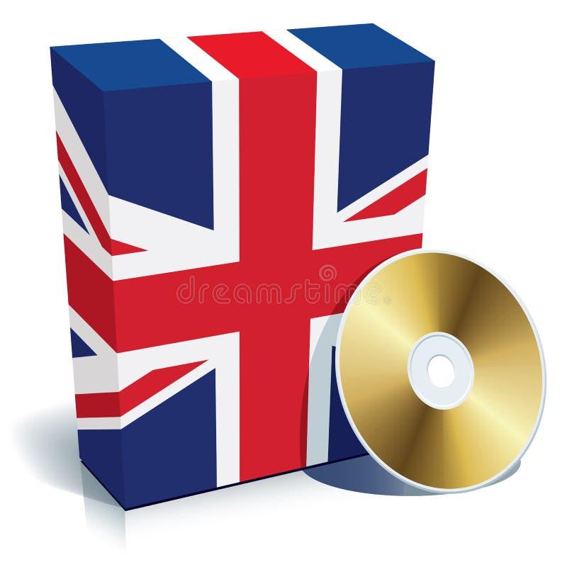 配件箱CD的英国软件 皇族释放例证