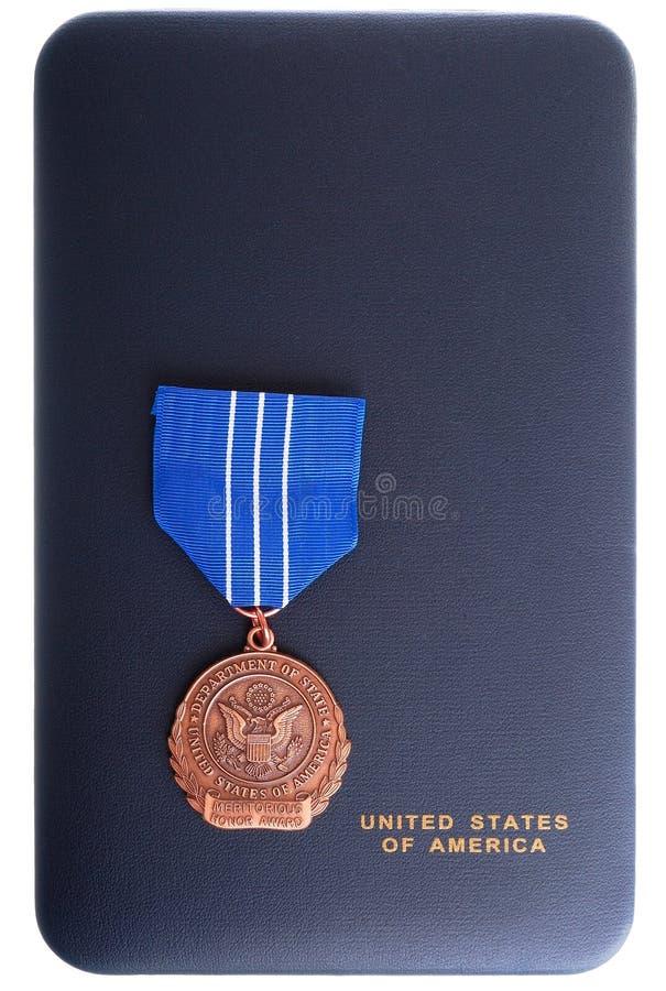 配受奖赏证书的荣誉称号 库存照片