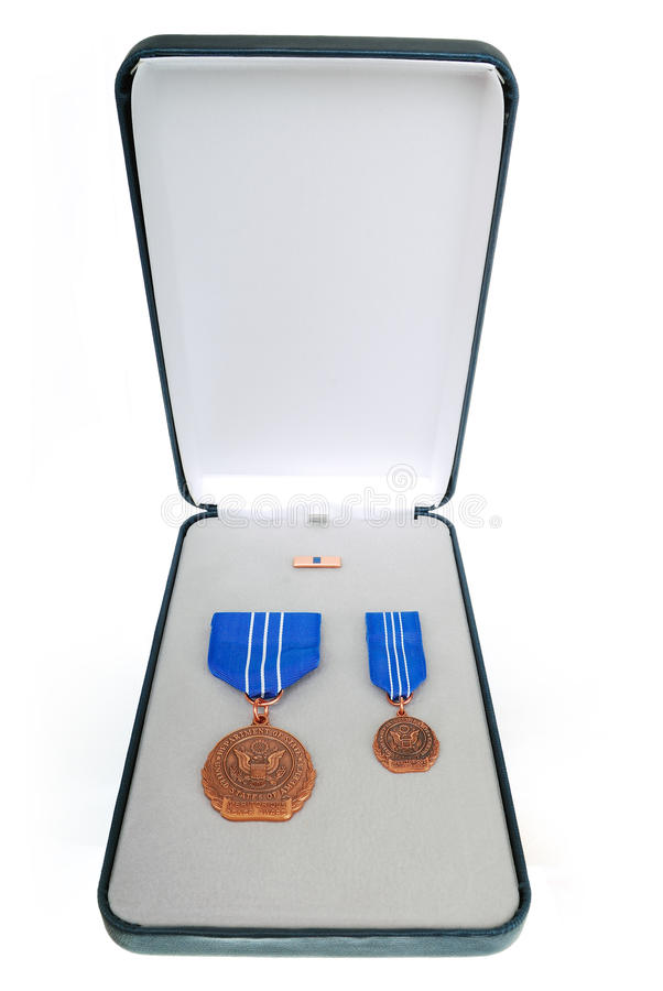 配受奖赏证书的荣誉称号 免版税库存图片