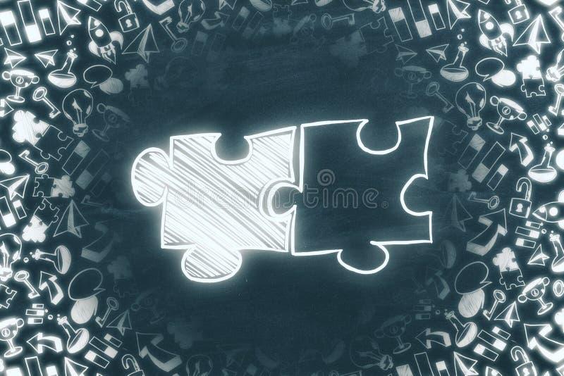 配合、合作和领导概念 向量例证