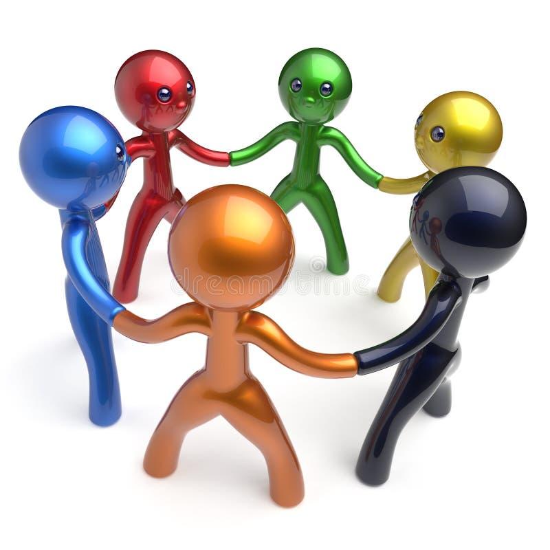 配合人脉突发的灵感人力资源人 库存例证