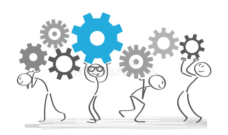 配合和合作 向量例证