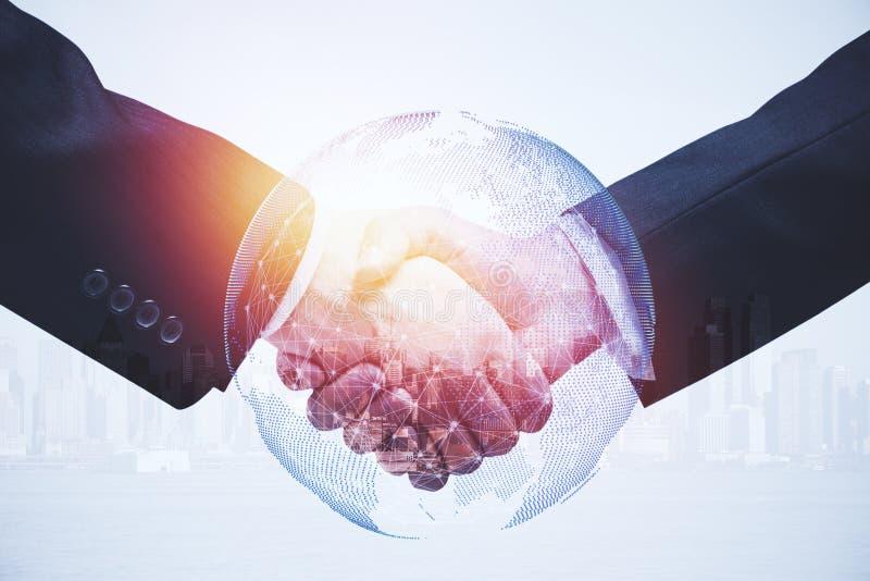 配合和国际企业概念 免版税库存图片