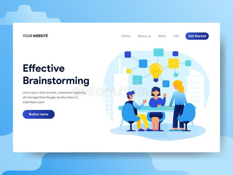 配合和激发灵感概念登陆的页模板  网页设计的现代平的设计观念网站和机动性的 皇族释放例证