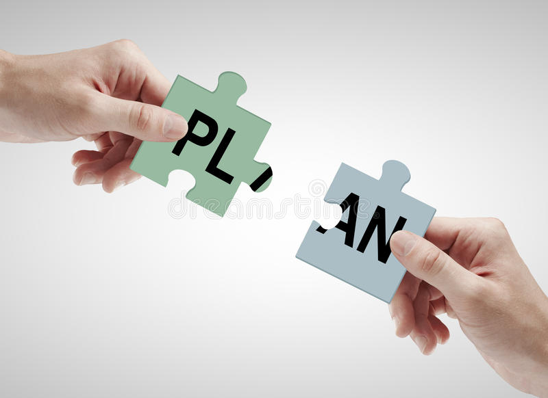 配合和计划概念 免版税库存图片