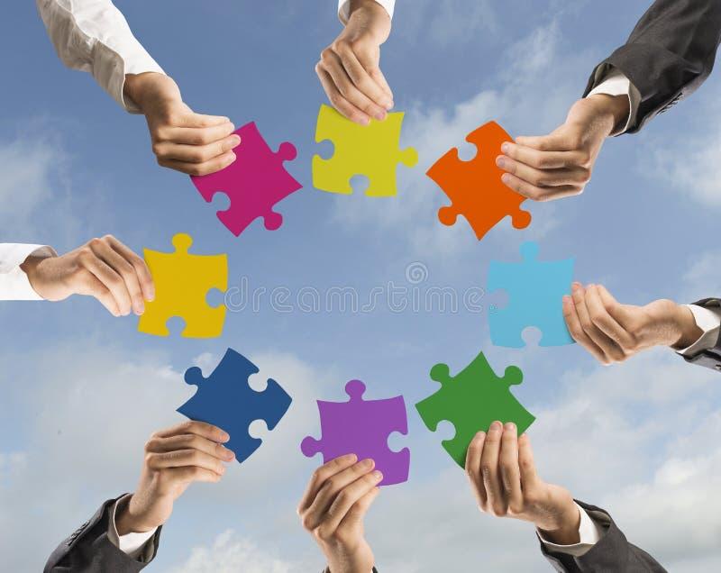 配合和综合化概念 免版税库存图片