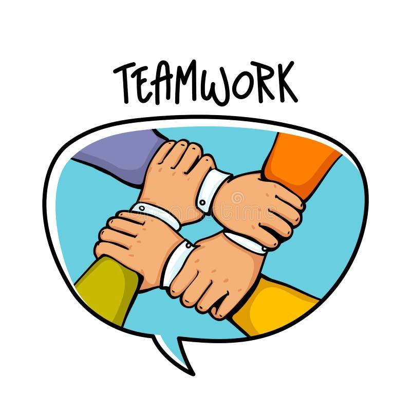 小组合作卡通囹�a_配合概念 堆企业手 合作配合,小组,合作, buidding的队