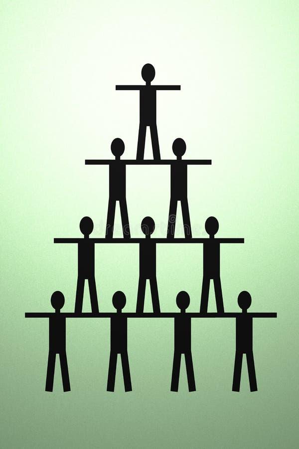 配合概念 女性男塑造一一起击出二运作 人金字塔  库存例证