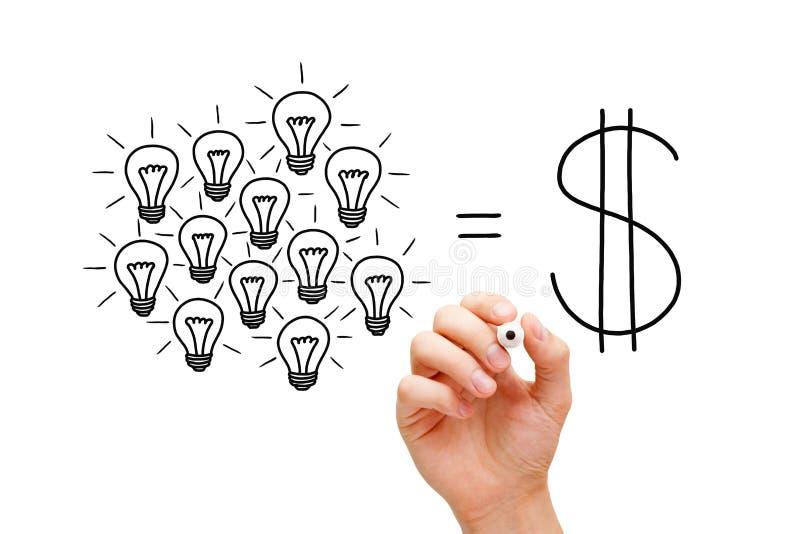 配合电灯泡成功概念 免版税库存照片