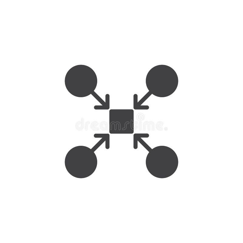配合结构传染媒介象 库存例证