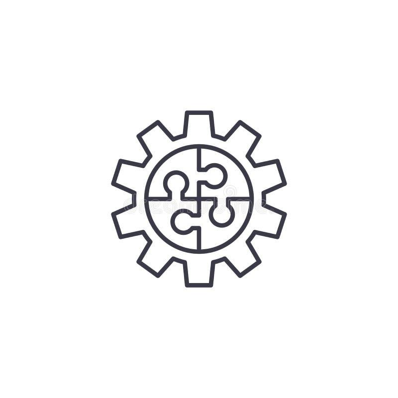 配合计划线性象概念 配合计划线传染媒介标志,标志,例证 向量例证