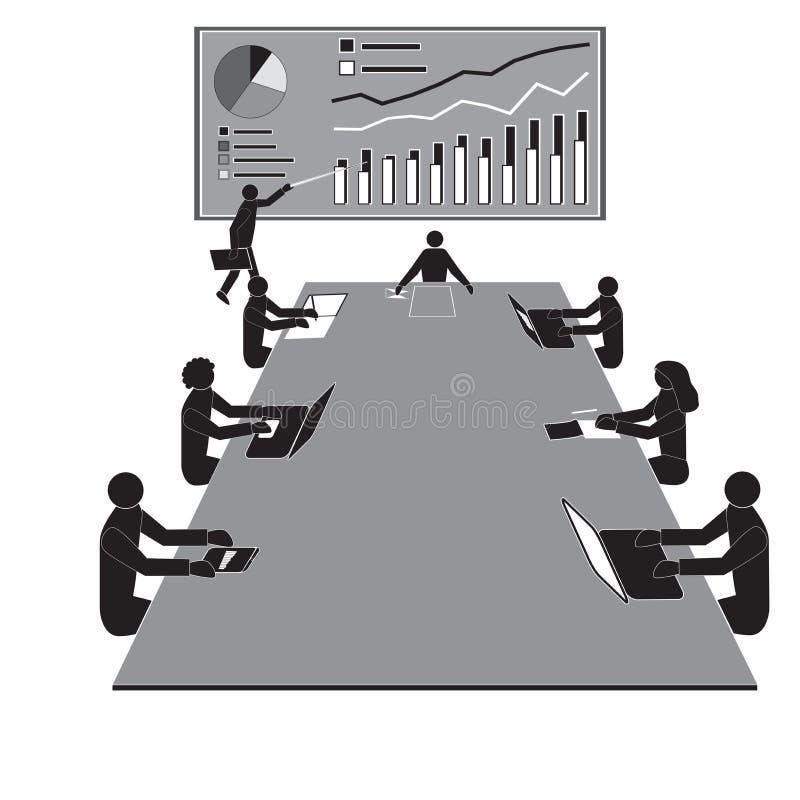 配合车间会议,办公室工作者队 向量例证