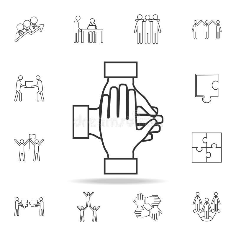 配合递象 详细的套队工作概述象 优质质量图形设计象 其中一个汇集象为 库存例证