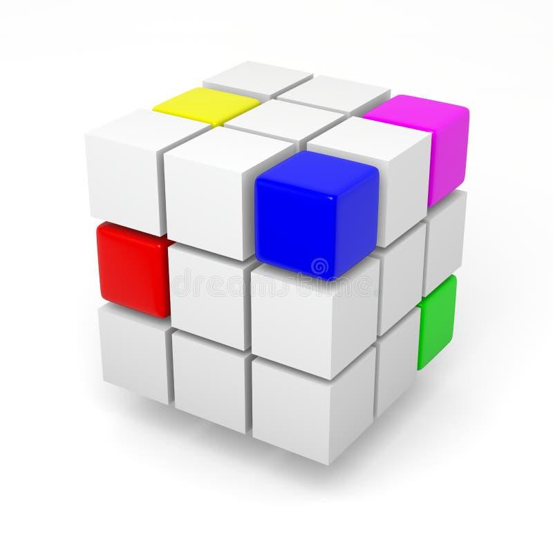 配合项目概念 向量例证