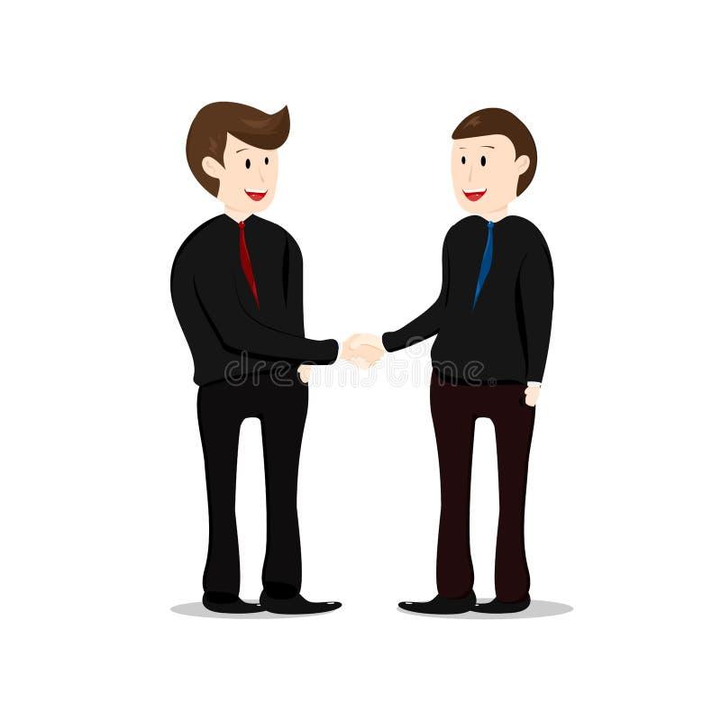 配合,握手,商人的伙伴,ch 皇族释放例证