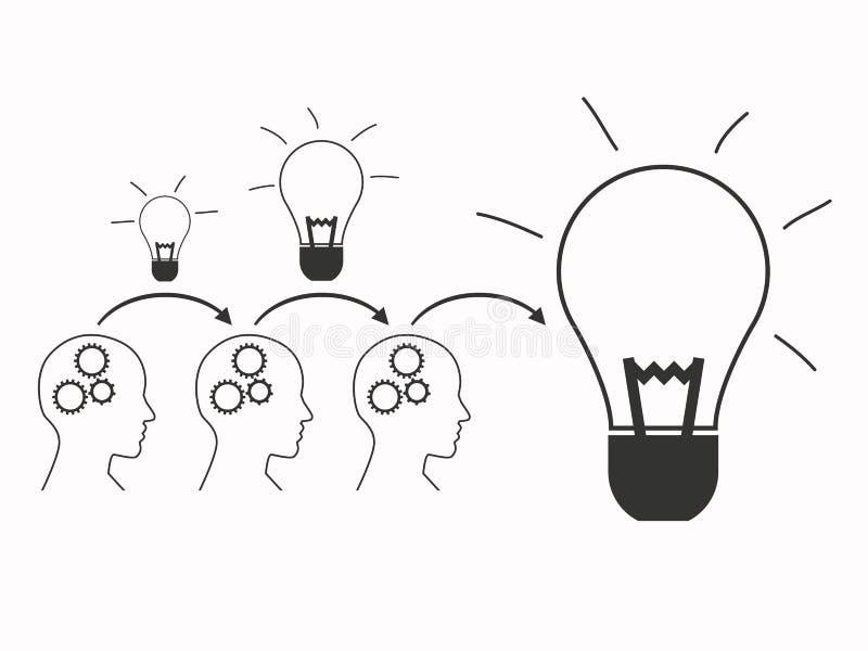 配合建立大想法 库存例证