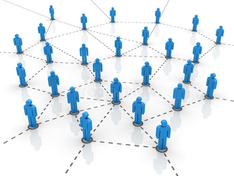 配合-网络 向量例证