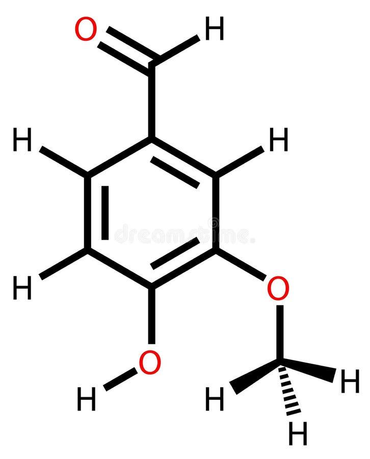配方结构上的香草精 向量例证