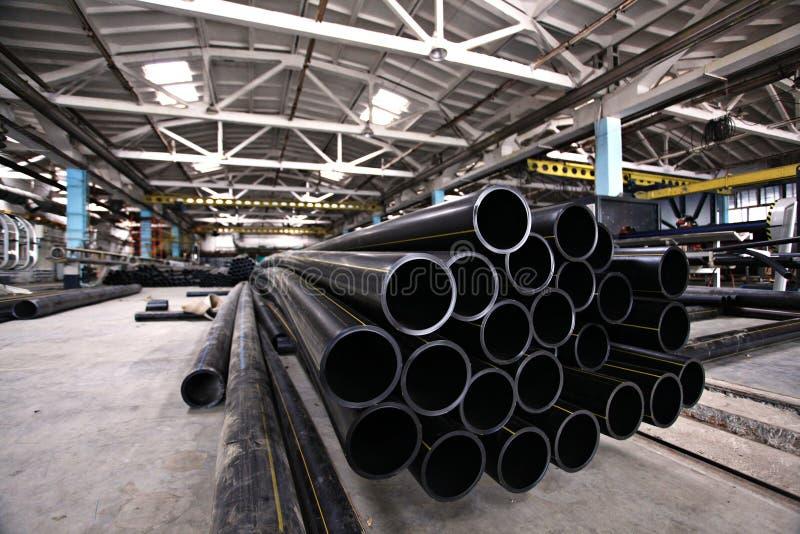 配管用管道输送,产业,管子制造  库存照片