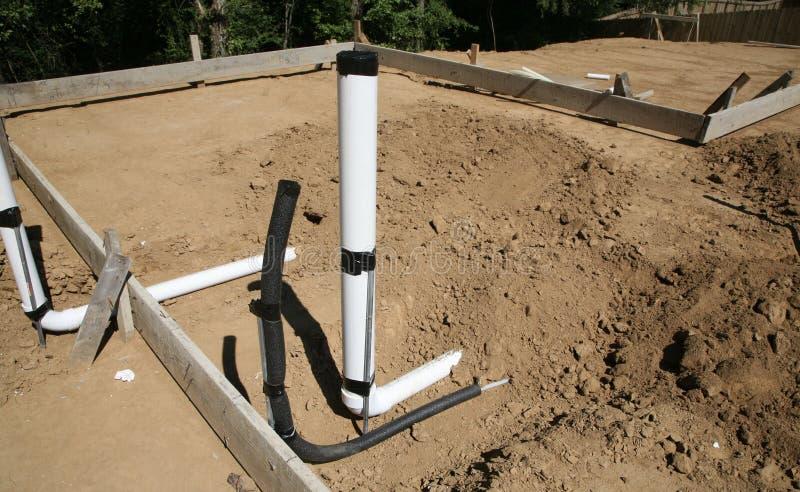 配管输送管道管子和水连接 免版税库存图片
