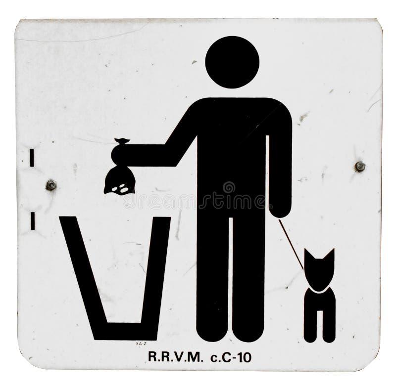 配置宠物符号浪费 图库摄影