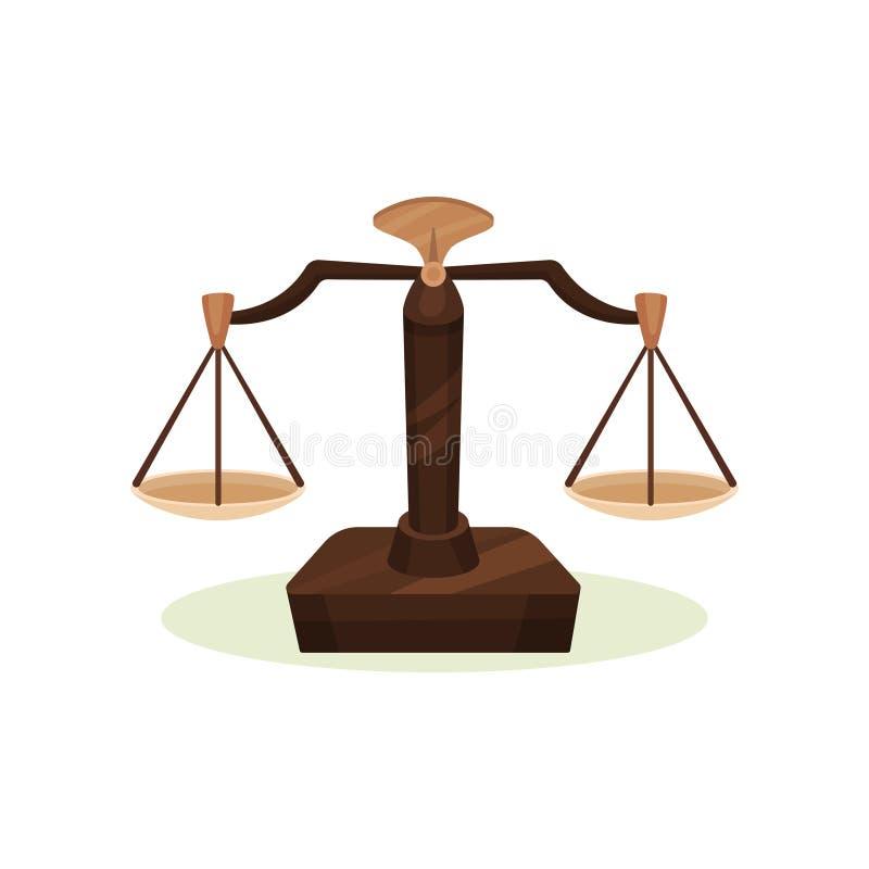 配药平衡的标度 葡萄酒衡器 测量重量的设备医疗成份 平的传染媒介 库存例证