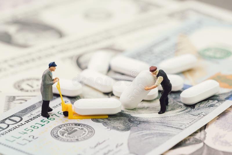 配药,医疗保健和医学工业企业concep 库存图片