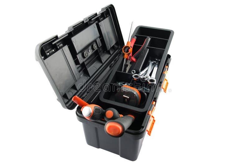 配件箱塑料工具工具 库存照片