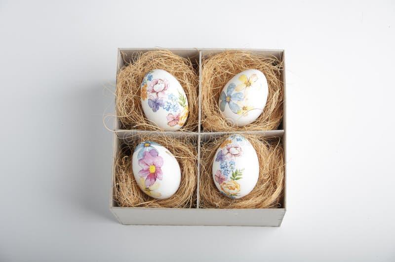 配件箱复活节彩蛋 库存图片