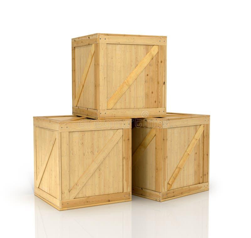 配件箱开放木 库存照片