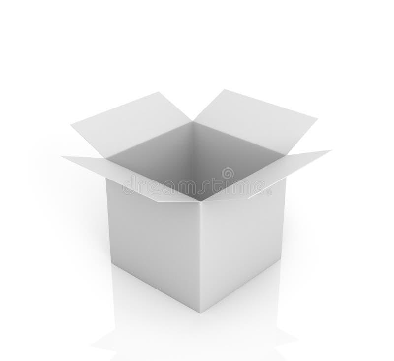 配件箱开放白色 库存例证