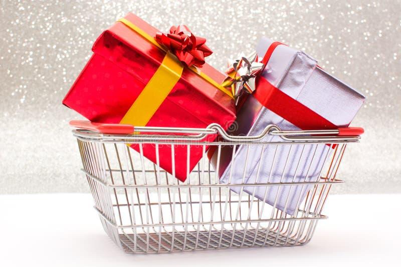 配件箱检查礼品图象类似我的投资组合 免版税库存图片