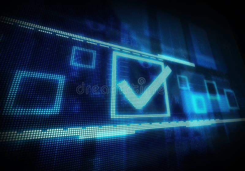 在蓝色dital背景的复选框 数字式被生成的图象 id.