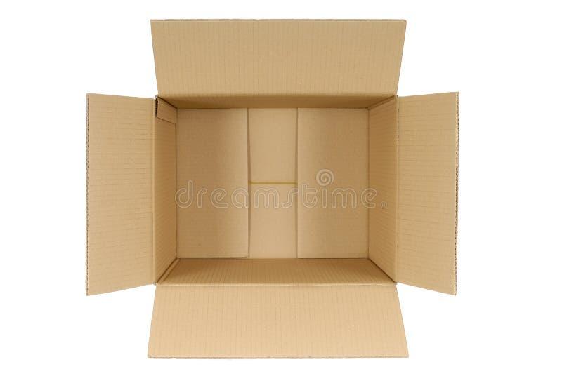 配件箱纸板无格式 免版税库存照片