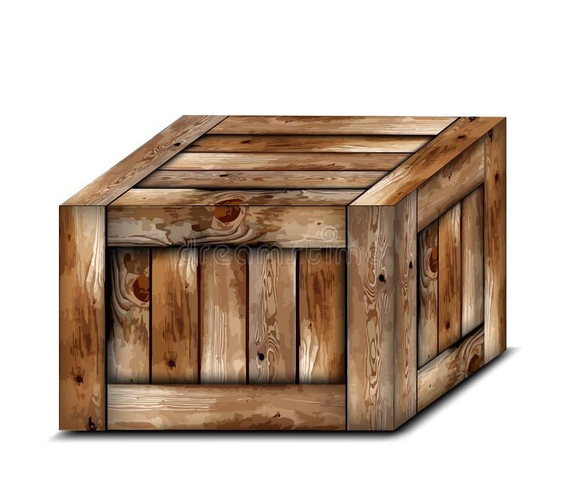 配件箱脆弱木 也corel凹道例证向量 向量例证