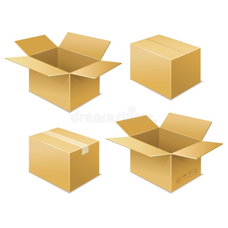配件箱 自由图标发运 库存例证