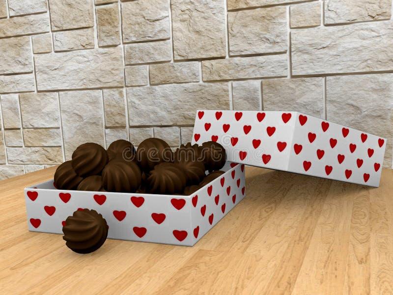 配件箱choco巧克力金子 向量例证